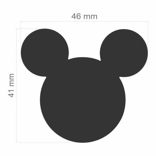 Furador Scrapbook Extra Gigante Premium Cabeça Mickey Mouse 19531 (FEGAD01) - Toke e Crie