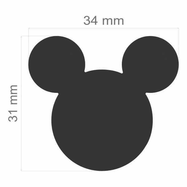 Furador Scrapbook Gigante Premium Cabeça Mickey Mouse 19526 (FGAD01) - Toke e Crie