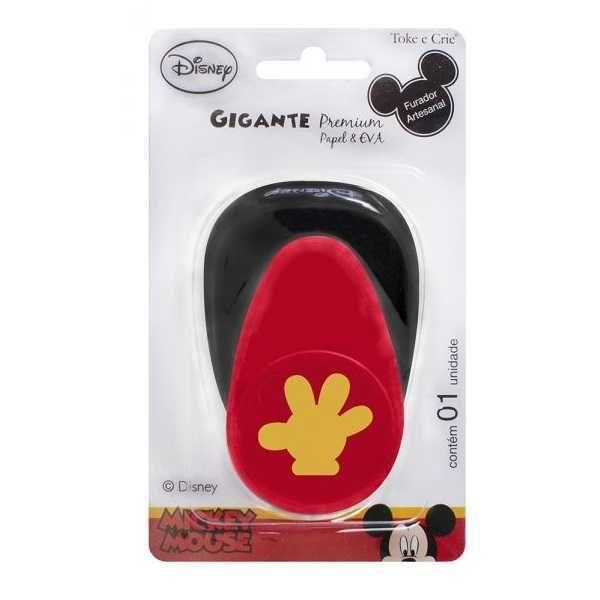 Furador Scrapbook Gigante Premium Luva Mickey Mouse 19727 (FGAD02) - Toke e Crie