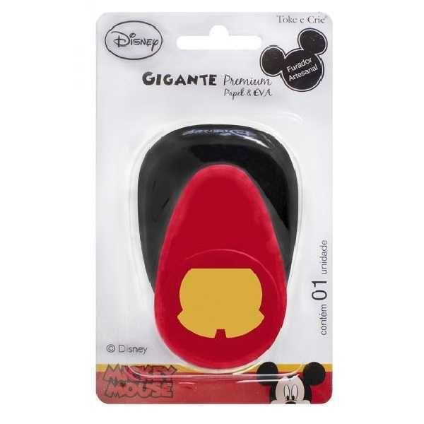 Furador Scrapbook Gigante Premium Shorts Mickey Mouse 19530 (FGAD05) - Toke e Crie