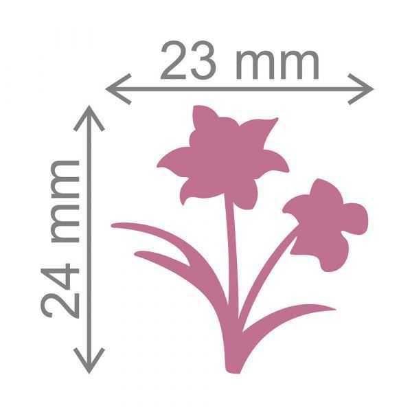 Furador Scrapbook Jumbo Flor de Narciso 12278 (FJA076) - Toke e Crie