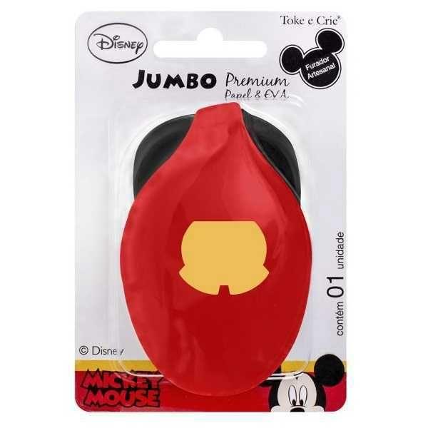 Furador Scrapbook Jumbo Premium Shorts Mickey Mouse 19523 (FJAD02) - Toke e Crie