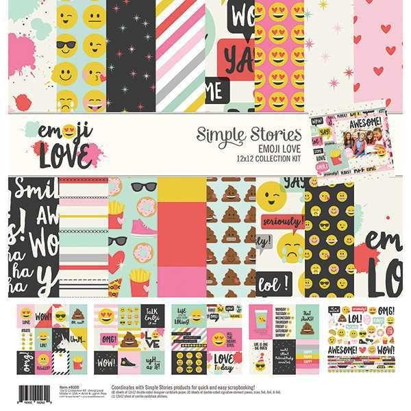 Kit da Coleção Emoji Love - Simple Stories