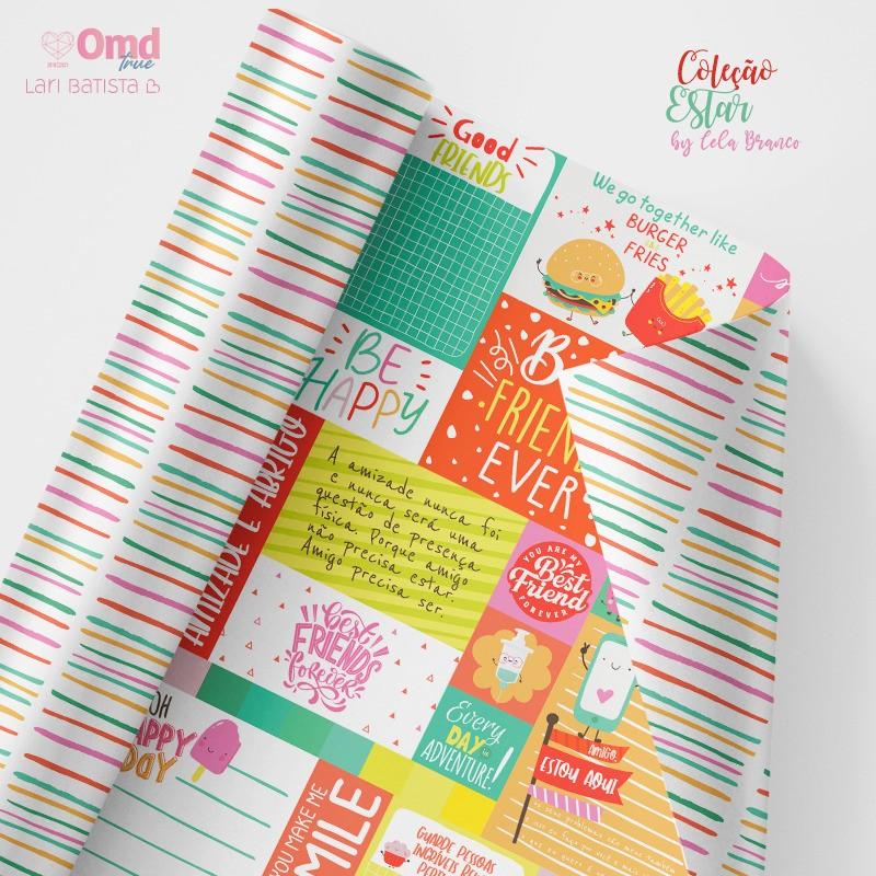 Kit de Papéis Scrapbook OMD Estar - Lari Batista