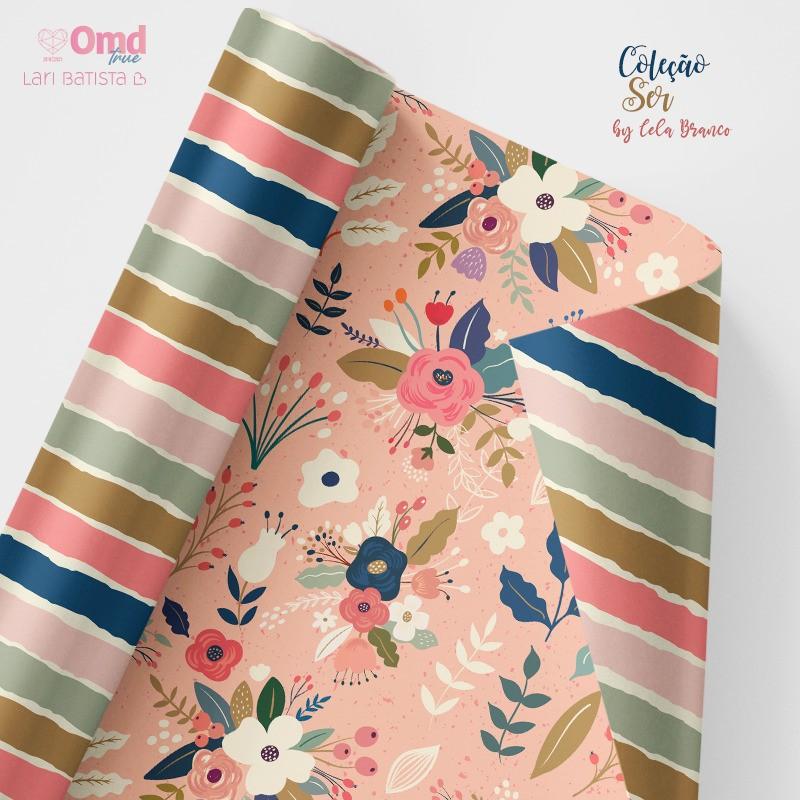 Kit de Papéis Scrapbook OMD Ser - Lari Batista