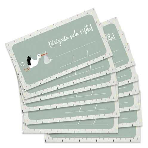 Kit de Tags Meu Coração é Seu Obrigada Pela Visita! Cegonha - JuJu Scrapbook