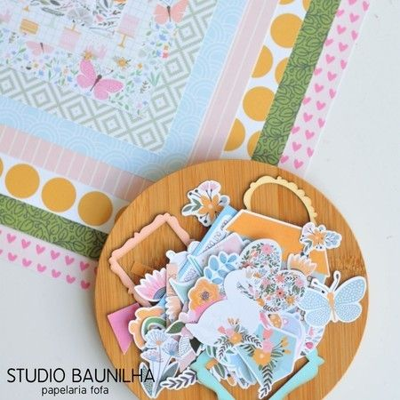 Kit Scrapbook Blossom - Studio Baunilha