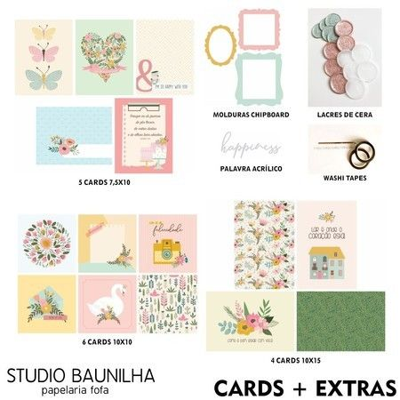 Kit Scrapbook Blossom - Studio Baunilha