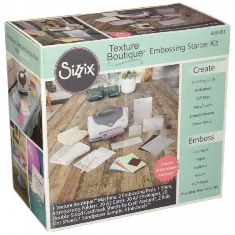 Máquina Texture Boutique c/ Kit Iniciante (Embossing Machine) - Sizzix