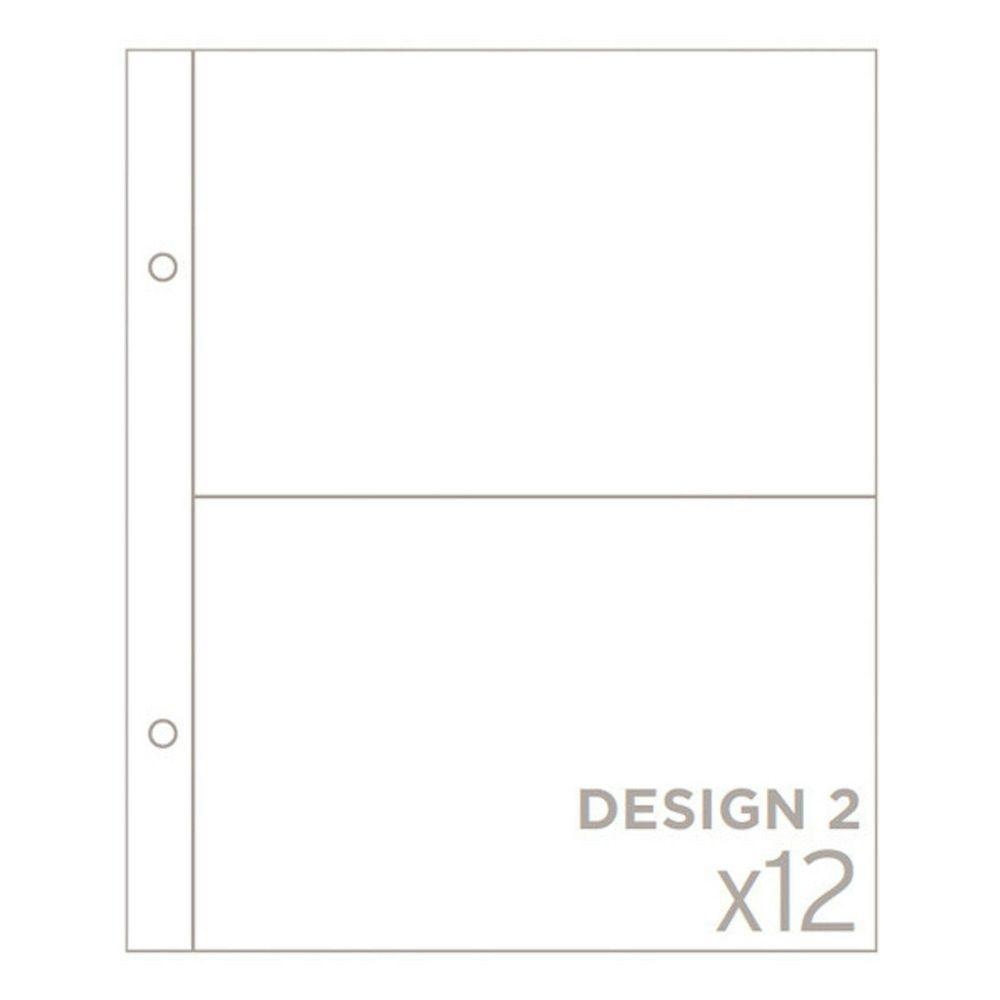 Pacote com 10 Refil para Álbum Scrapbook Design 2 17,5cm x 21cm - American Crafts