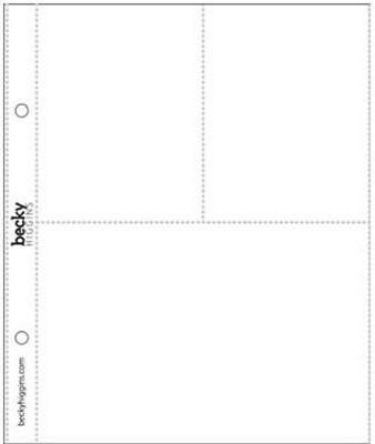 Pacote com 10 Refil para Álbum Scrapbook Design 3 17,5cm x 21cm - American Crafts