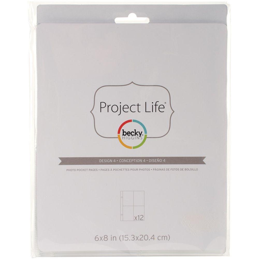 Pacote com 10 Refil para Álbum Scrapbook Design 4 17,5cm x 21cm - American Crafts