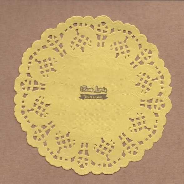 Papel Rendado Amarelo 14cm x 14cm PRE004-3 - Art e Montagem