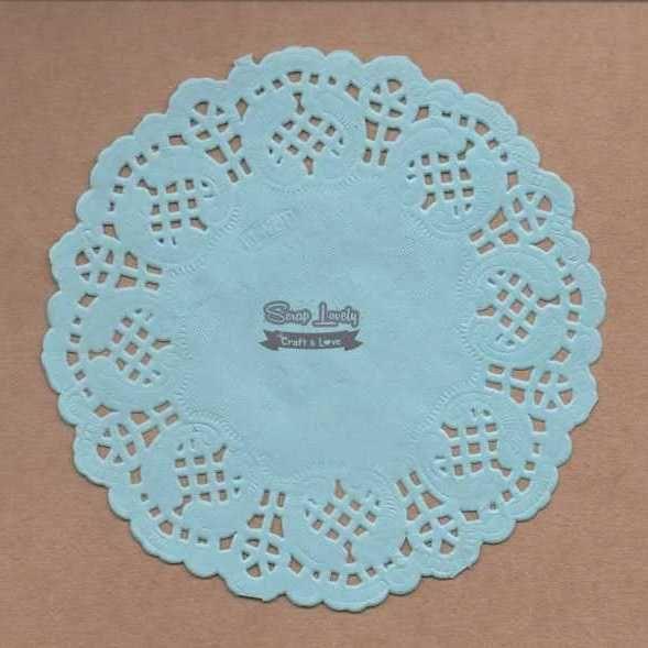 Papel Rendado Azul 14cm x 14cm PRE004-2 - Art e Montagem