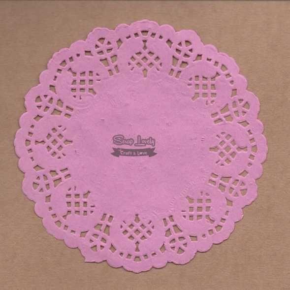 Papel Rendado Rosa 14cm x 14cm PRE004-1 - Art e Montagem