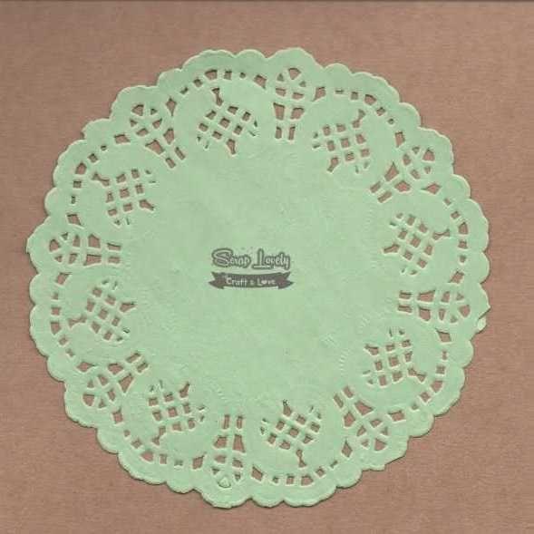 Papel Rendado Verde 14cm x 14cm PRE004-4 - Art e Montagem