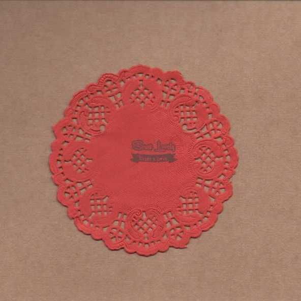 Papel Rendado Vermelho 10cm x 10cm PRE002-5 - Art e Montagem