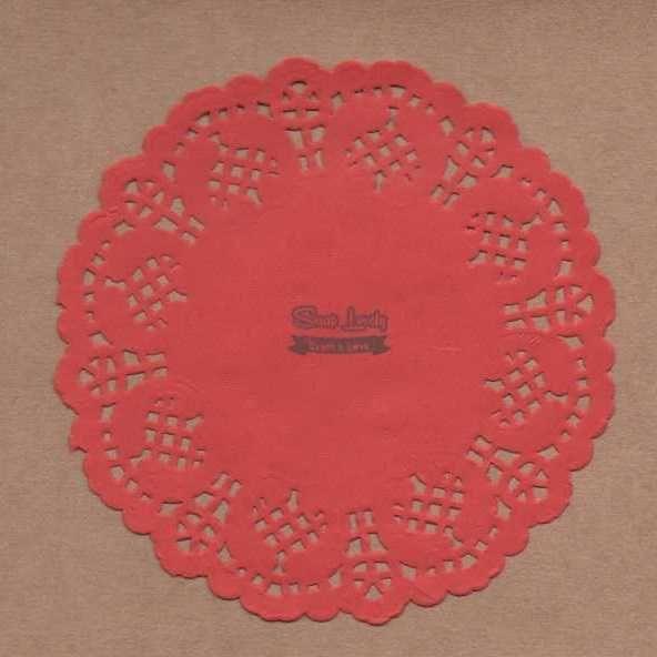Papel Rendado Vermelho 14cm x 14cm PRE004-5 - Art e Montagem