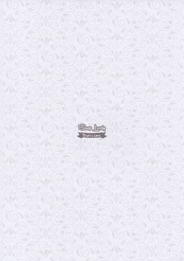 Papel Scrapbook A4 Arabesco Branco - Metallik