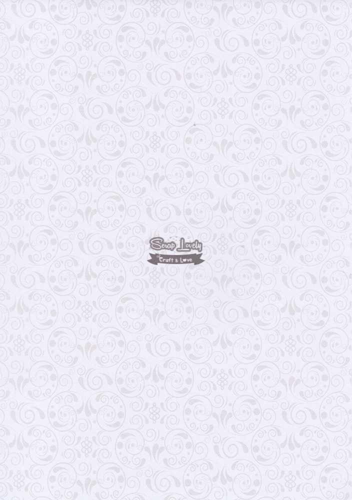 Papel Scrapbook A4 Arabesco Branco - Metallik