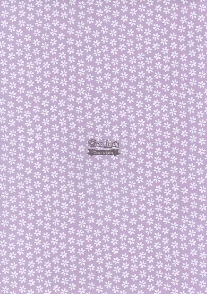Papel Scrapbook A4 Florzinhas Lilás - Metallik