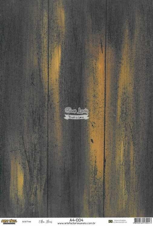 Papel Scrapbook A4 Texturas Madeira 2 - Arte Fácil