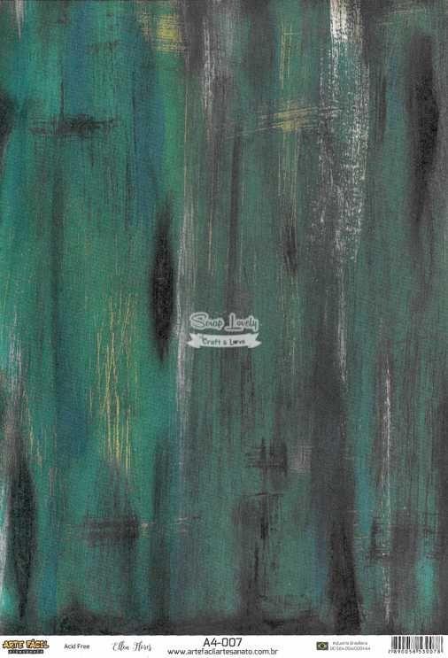 Papel Scrapbook A4 Texturas Madeira 4 - Arte Fácil