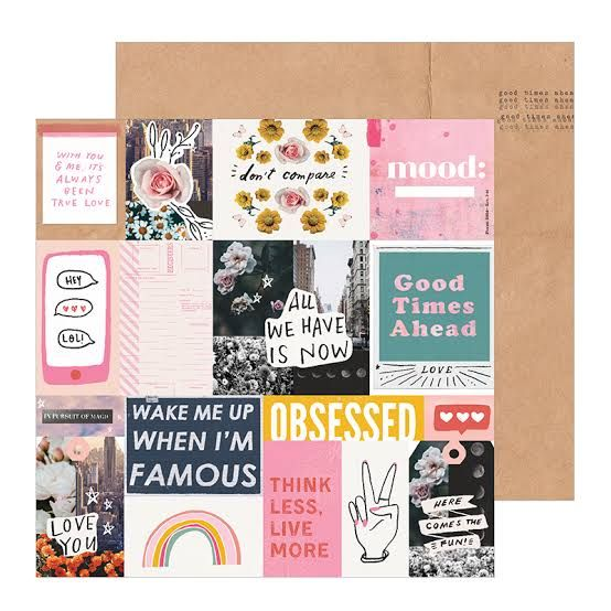 Papel Scrapbook All Heart Collage - Crate Paper