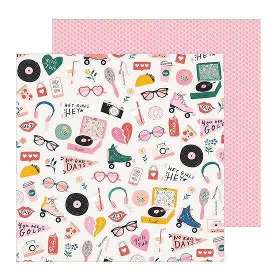 Papel Scrapbook All Heart Cute Stuff - Crate Paper