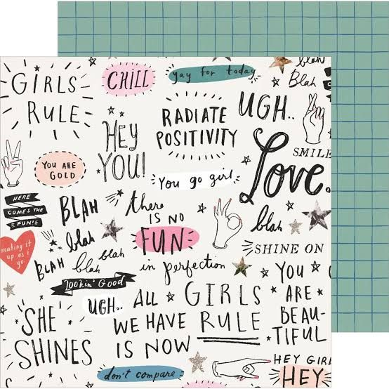 Papel Scrapbook All Heart Go Girl - Crate Paper