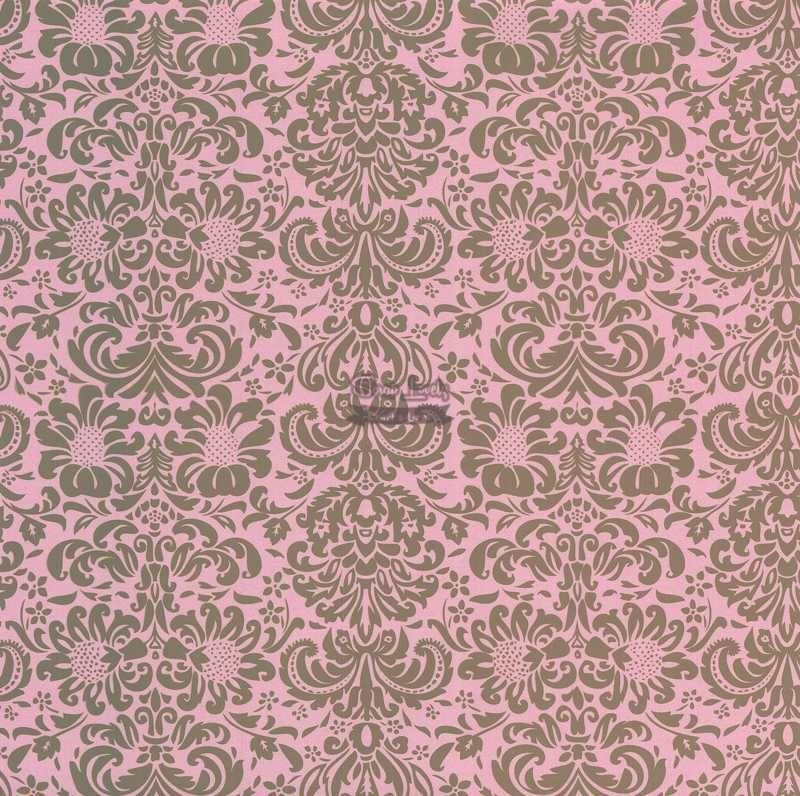 Papel Scrapbook Arabesco 02 Rosa e Marrom - Metallik