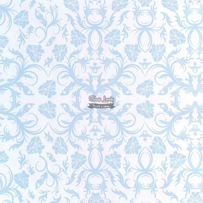 Papel Scrapbook Arabesco Azul - Metallik