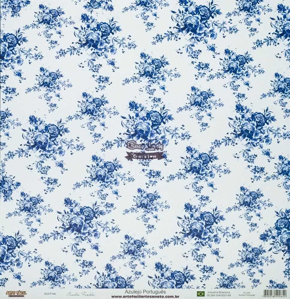 Papel Scrapbook Azulejo Português - Arte Fácil