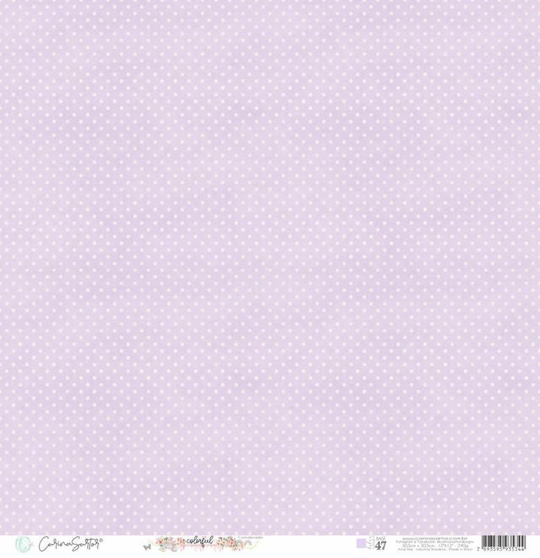 Papel Scrapbook Base 47 - Carina Sartor