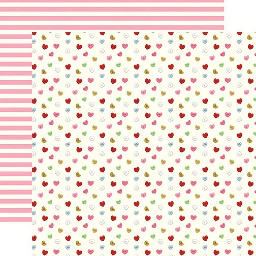 Papel Scrapbook Be My Valentine Candy Hearts - Echo Park