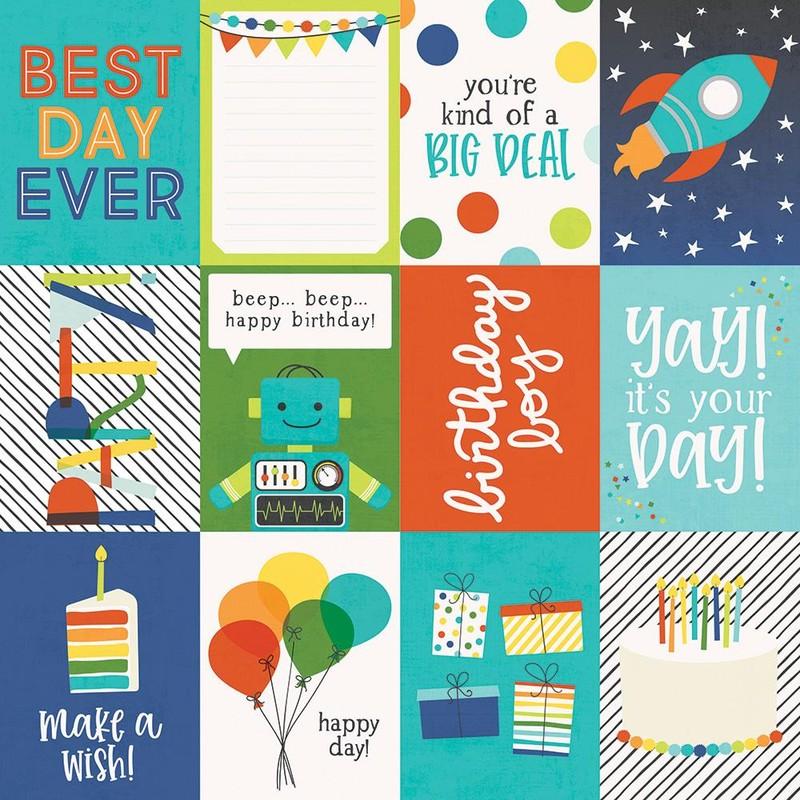 Papel Scrapbook Birthday Plast 3x4 Elements - Simple Stories