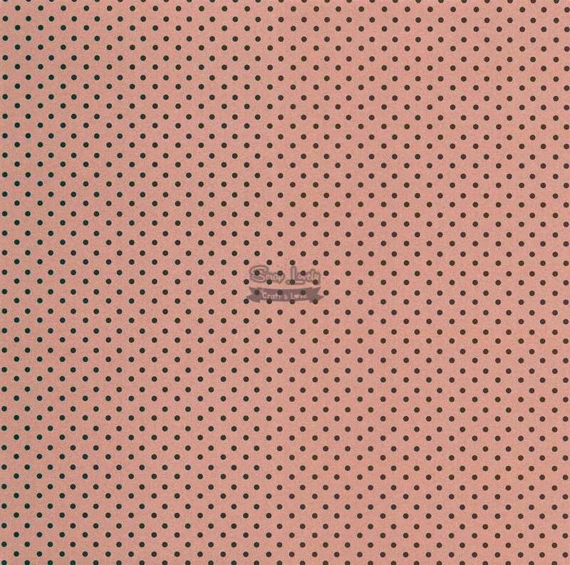 Papel Scrapbook Bolinha 02 Cobre - Metallik