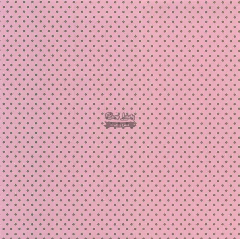 Papel Scrapbook Bolinha 02 Rosa e Marrom - Metallik