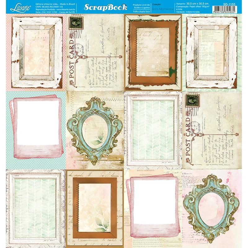 Papel Scrapbook Bons Momentos SD-1155 - Litoarte