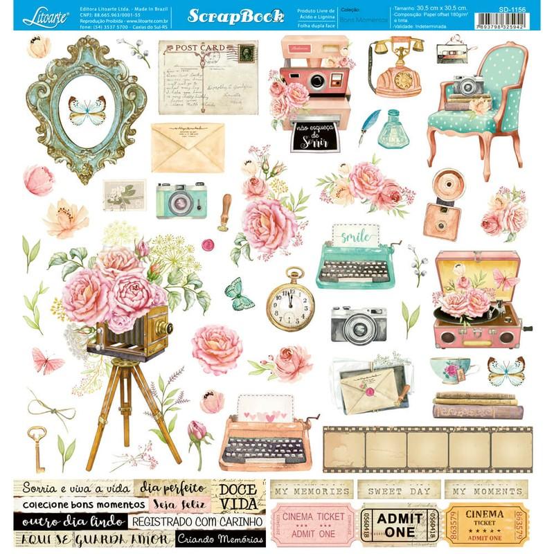 Papel Scrapbook Bons Momentos SD-1156 - Litoarte