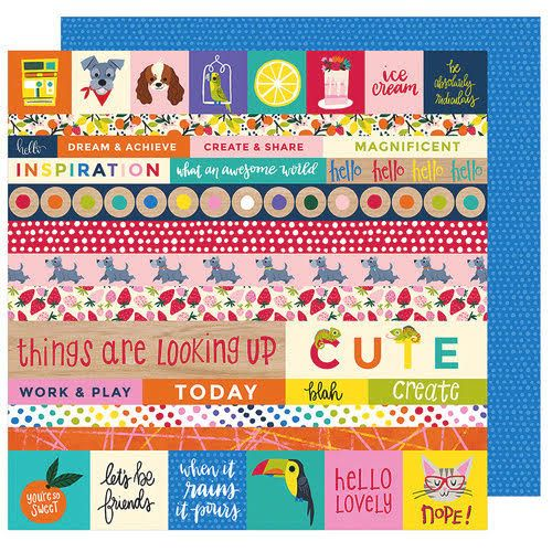 Papel Scrapbook Box of Crayons All the Things - American Crafts