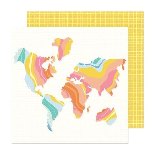 Papel Scrapbook Buenos Dias! Let's Go - American Crafts