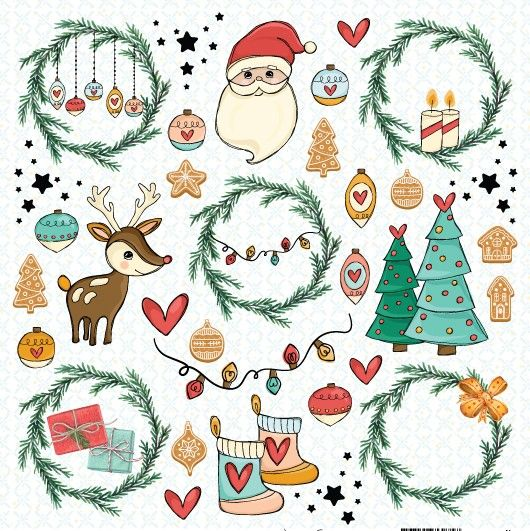 Papel Scrapbook Chegou o Natal Sonhos de Natal PP200 - Scrap Goodies