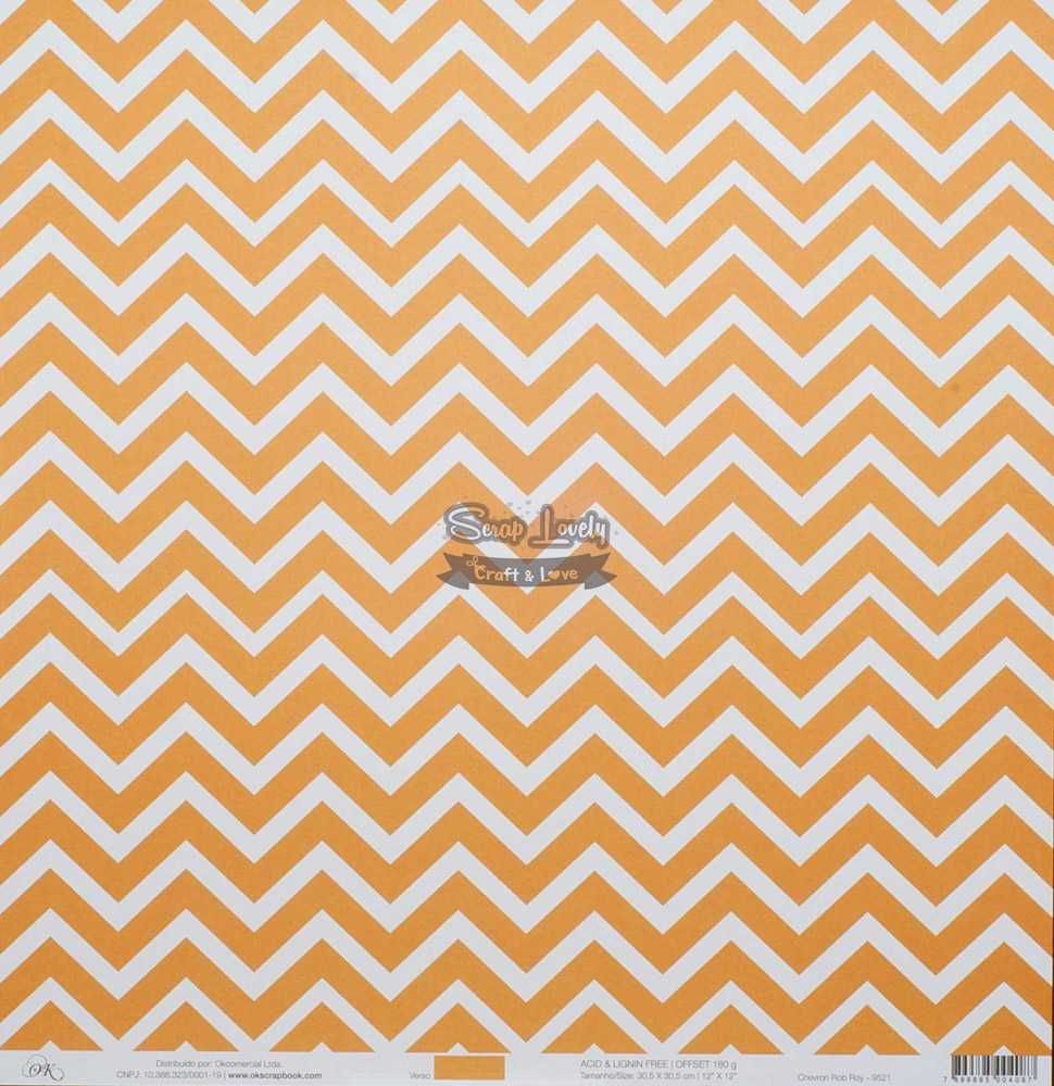 Papel Scrapbook Chevron Rob Roy - OK Scrapbook