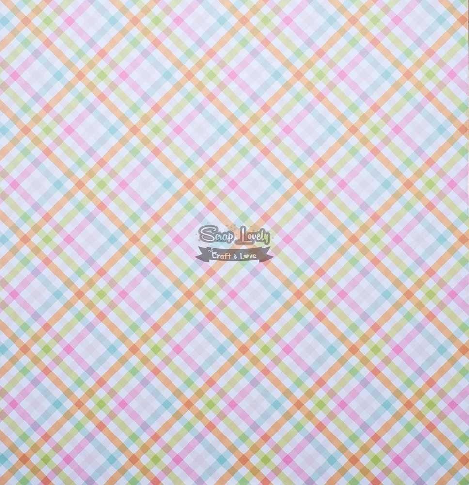 Papel Scrapbook Coelhinho Ovinhos - Oficina do Papel