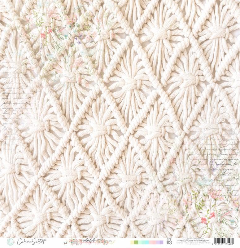 Papel Scrapbook Colorful Cor03 - Carina Sartor