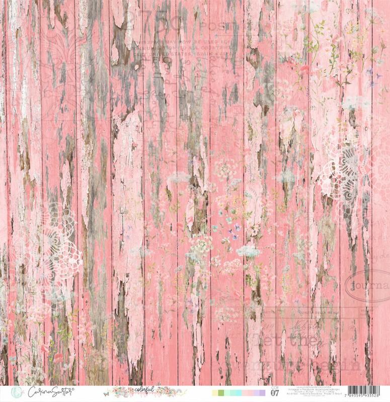 Papel Scrapbook Colorful Cor07 - Carina Sartor