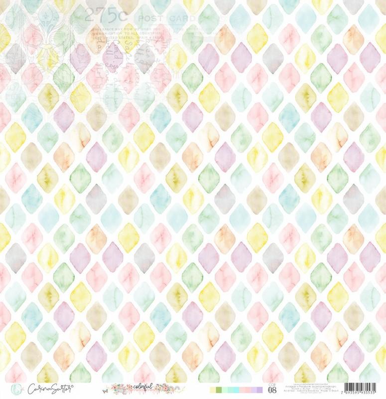 Papel Scrapbook Colorful Cor08 - Carina Sartor