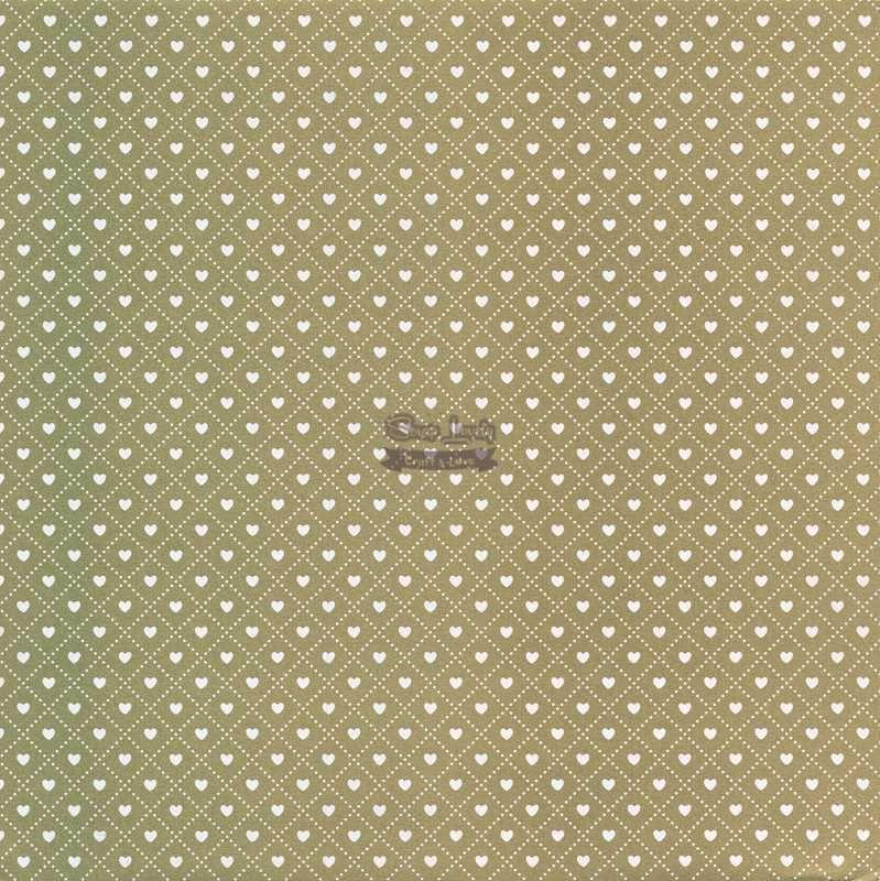 Papel Scrapbook Coração 3 Ouro - Metallik