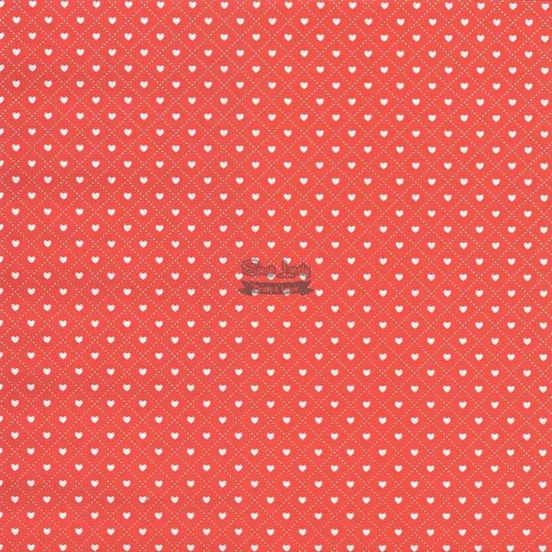 Papel Scrapbook Coração 3 Vermelho - Metallik